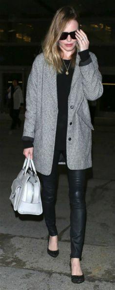 el look de working girl de Kate Bosworth