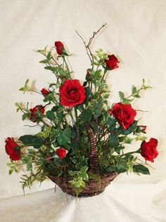 Rustic Woodland Dozen Red Roses in a Princess by FloralsWithFlair, $85.00