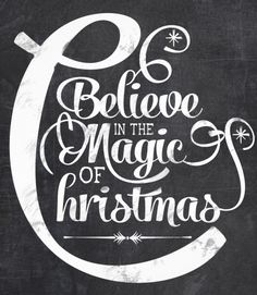 Believe in the magic of christmas chalkboard invitation card - http://www.zazzle.com/chalkboard_believe_in_the_magic_of_christmas-161174497184801221?rf=238087280021604351