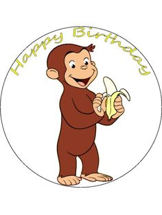 1000 images about jorge el curioso on pinterest curious for Curious george cake template