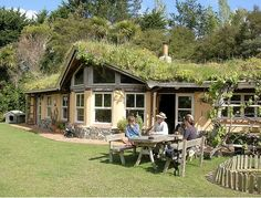 Beautiful living roof and natural building at Rainbow Valley Farm in New Zealand.      http://rainbowvalley.co.nz/