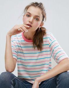Discover the latest fashion trends with ASOS. Shop the new collection of clothing, footwear, accessories, beauty products and more. Order today from ASOS. Latest Fashion Clothes, Latest Fashion Trends, Trendy Fashion, Fashion Online, Fashion Tips, Asos T Shirts, Women's Shirts, Tees, Casual Outfits