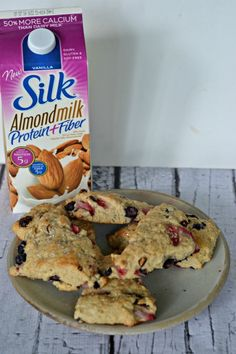 Red, White, and Blue Scones made with Silk Almondmilk  #SilkAlmondBlends #shop