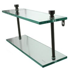 "Allied Brass Universal 3/8"" Double Glass Shelf"