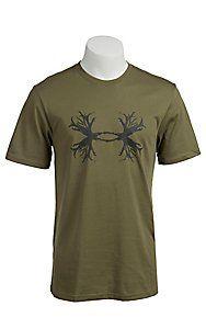 Under Armour Men's Moss Green UA Ghost Antler Logo T-Shirt