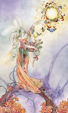 The Empress - Stephanie Pui-Mun Law - Shadowscapes Tarot - Fantasy Art Fantasy Kunst, Fantasy Art, Elfen Fantasy, Art Magique, Illustrator, Art Carte, Kunst Online, The Empress, Flower Fairies