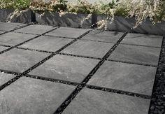 Full-body porcelain stoneware outdoor floor tiles with stone effect STONE MIX Quarzite Grey By Italgraniti Garden Tiles, Patio Tiles, Outdoor Tiles, Outdoor Flooring, Outdoor Pavers, Slate Pavers, Slate Patio, Paving Slabs, Porcelain Vs Ceramic