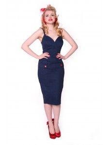 Debbie Wiggle Dress - Denim