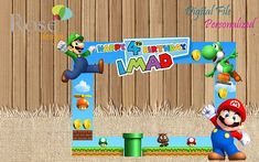 Super Mario Bros Photo Booth / Mario Bros Party / Birthday