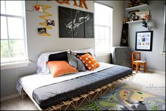 I like the orange accents. They are a pop of color, but not too much