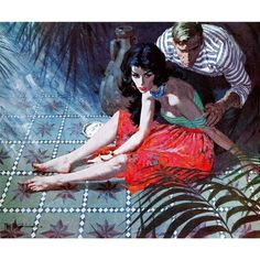 """Marmont Hill - """"Beauty is the Prize"""" by Robert McGinnis Painting Print on Canvas"""