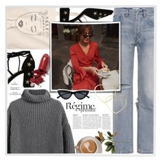 """a day in Paris"" by mafaldamf ❤ liked on Polyvore featuring RE/DONE, Menu, Anja, LAQA & Co., Thalia Sodi and paris"