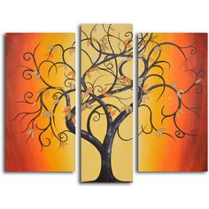 My Art Outlet Hand-painted 'Thai Tree Dance' Oil Painting