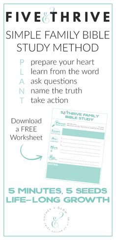 A simple family Bible study method you can do in 5-10 minutes with kids of all ages.