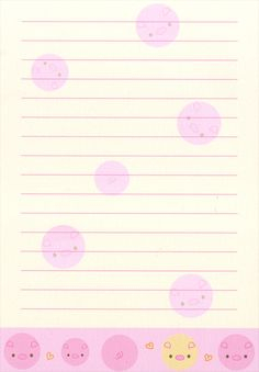 Kawaii letter paper - Sweet Face - printable