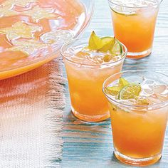 Tropical Champagne Punch.