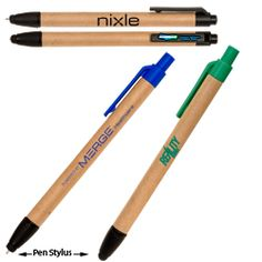 Eco Stylus Pen. Available in 3 colors. Just $.95 at 300 or more. No setup.