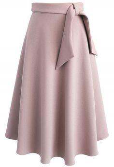 Love in Vogue Midi Skirt in Rosy Brown