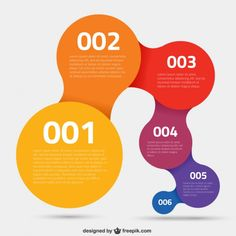 Colorful circles infographic Free Vector