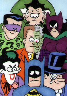 Batman and villains: the awkward moment you have when you know you don't belong