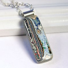 St. Louis Fordite Necklace  Vintage Auto Paint by walkonthemoon, $105.50