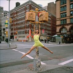 NYC. A Morning in the East Village. She fills the empty scene...   //  Ballerina Project.