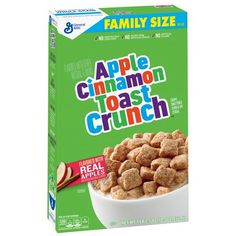 General Mills Apple Cinnamon Toast Crunch Cereal - For more than 150 years General Mills have been making food with passion - they aim to serve the world by making food people love! These Apple Cinnamon Toast Crunch Cereal are delicious bite Cinnamon Toast Crunch, Cinnamon Apples, Breakfast Cereal, Breakfast Items, Healthy Chicken Recipes, Dog Food Recipes, General Mills Cereal, Protein, Breakfast