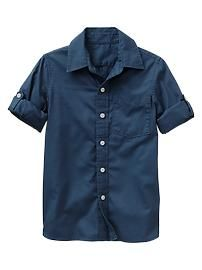 Convertible Oxford shirt