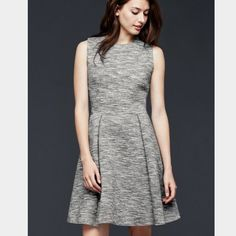 Gap Grey Fit And Flare Dress