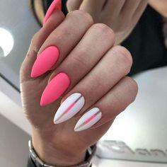 Uñas rosa mate decoradas - Nailed It - Summer Acrylic Nails, Spring Nails, Dope Nails, Fun Nails, Stylish Nails, Trendy Nails, Matte Pink Nails, Black Nails, Jelly Nails