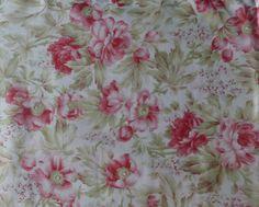 Baumwoll-Gewebe Decke Dekor Floral 3 von SuesFabricNSupplies