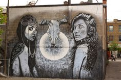 Streetart: Fin DAC x Angelina Christina – New Mural In Montreal // Canada