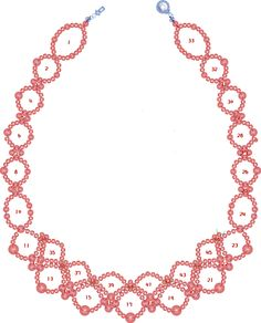 Free pattern for pretty necklace Sea Date.    To bead this necklace just follow the numbers of steps on the pattern       U need:       seed beads 10\0-11\0  pearl beads 3-4 mm  pearl beads 5-6 mm  - See more at: http://beadsmagic.com/?p=2751#more-2751