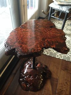 Maple burl table and base