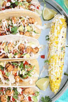 Grilled Shrimp Tacos - Strawberry Blondie Kitchen