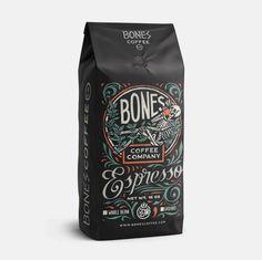 Bones Espresso #packaging #illustration