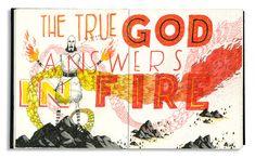 John Hendrix Cool Typography, Typography Design, John Hendrix, Sketchbook Inspiration, Contemporary Artists, Childrens Books, Illustrators, Christianity, Fine Art