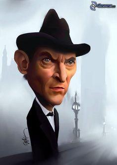 caricature, Jeremy Brett - Sherlock Holmes