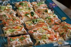 Vegetable Bars Made With Ranch Dip (Recipe can be found in our recipe cook book!)