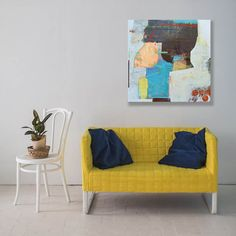 Abstract painting 'Stand Tall' would look great on a wall. Interior Paint, Interior Design, Plywood Panels, Small Paintings, Stand Tall, Art Tutorials, Abstract Art, My Arts, Rooms