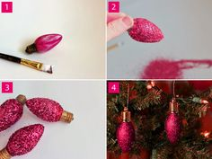 Nog meer kerstballen gemaakt van gloeilampen