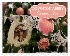 Are you a Downton Abbey fan... then you'll love this theme inspired shabby chic Christmas tree dedicated to this favorite British hit!