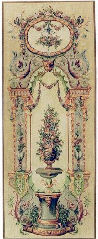 Elysee Portiere (Left) French Wall Tapestry