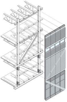 Cada panel está formado por un bastidor de aluminio con refuerzos y espaciadores de acero inoxidable para rotura de puente térmico.