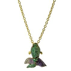 Fish Necklace, $348, now featured on Fab. by CZ by Kenneth Jay Lane !!