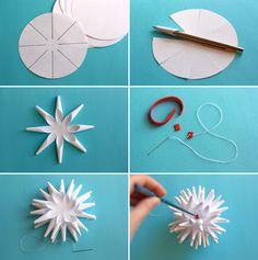 Сделай сам, скачай и распечатай, советы по рукоделию от Трендарио: Делаем 3D снежинку