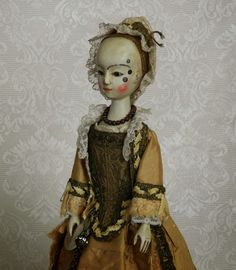 The Old Wooden Sisters: antique wood doll