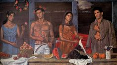 Tsarouchis - the 4 seasons Greek Paintings, Art Paintings For Sale, Painter Artist, Artist Art, Safari, Street Art, Queer Art, Portraits, Caravaggio