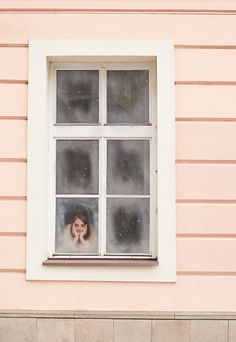photography, pink, window, smile,