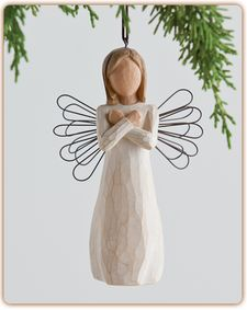 Sign for Love Ornament - I love you #willowtree #Christmas #holiday #gift #angel